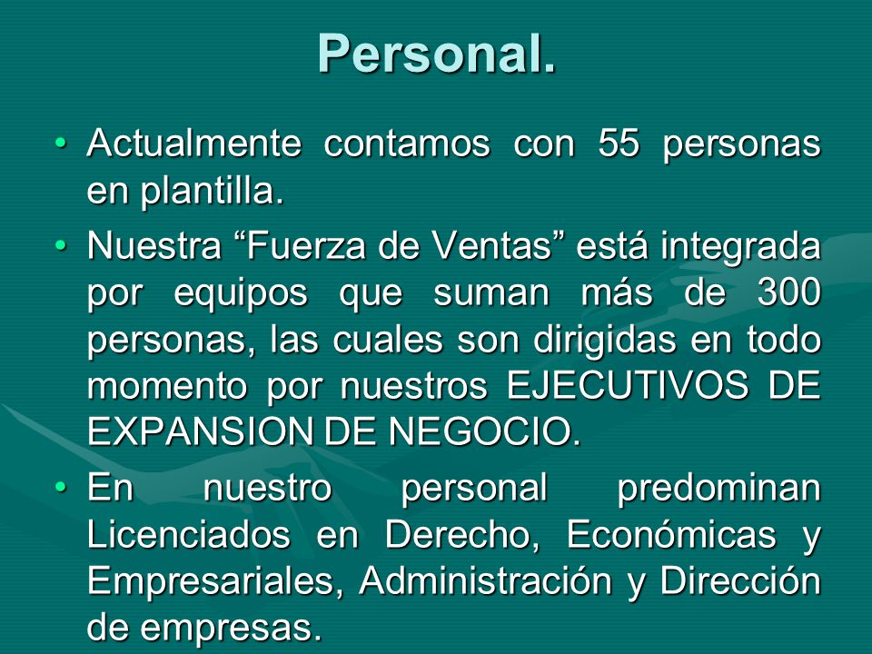 Personal.