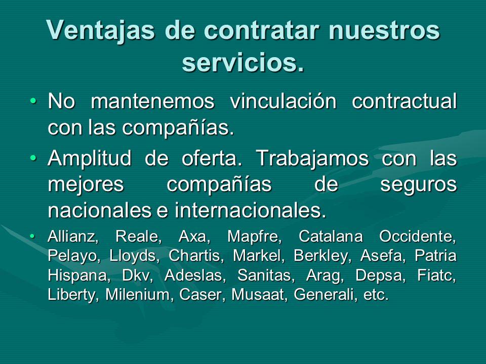 Ventajas de contratar nuestros servicios.