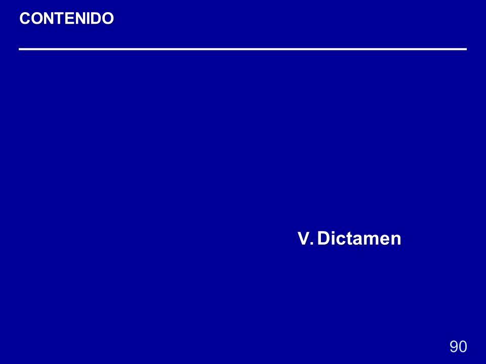 90 V. Dictamen CONTENIDO
