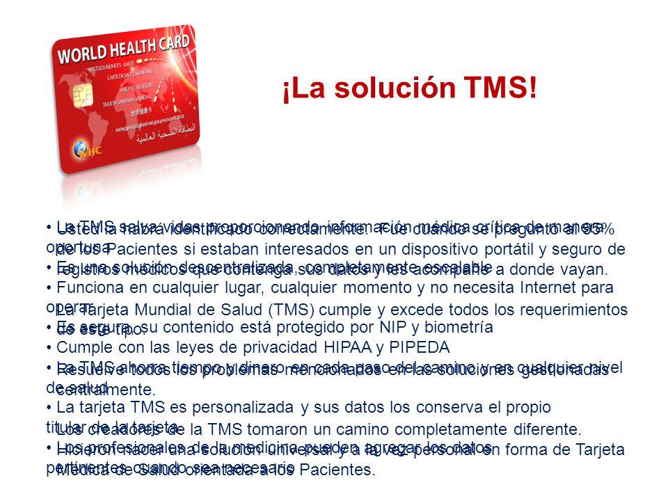 ¿Qué puedo ahorrarme al utilizar el Sistema TMS.¡Las vidas primeras y principales.