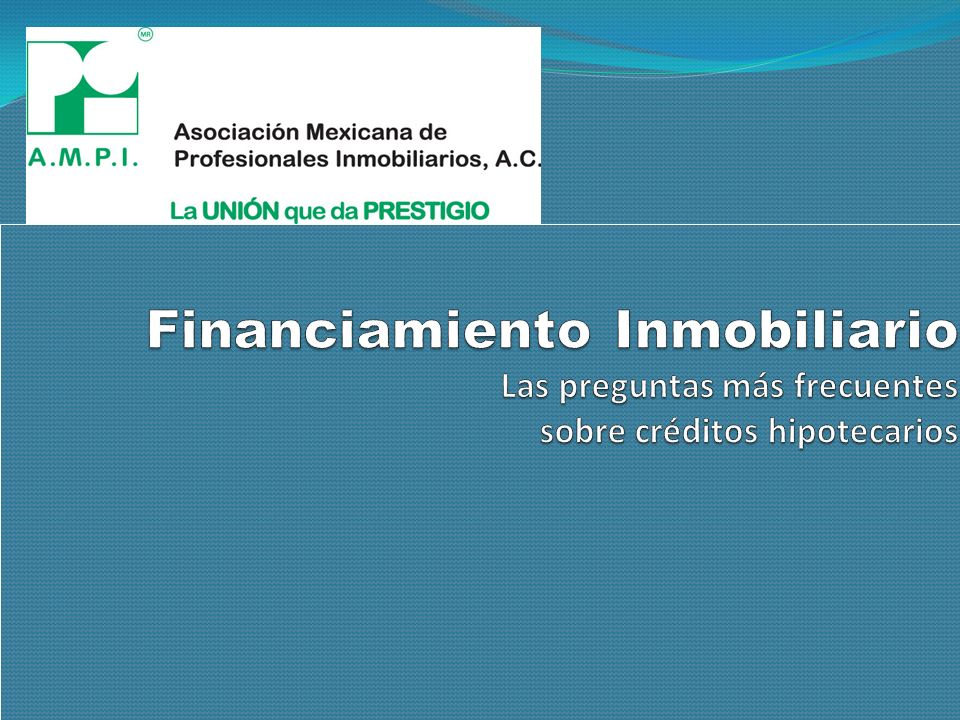 ¿Conoces los Créditos Hipotecarios?