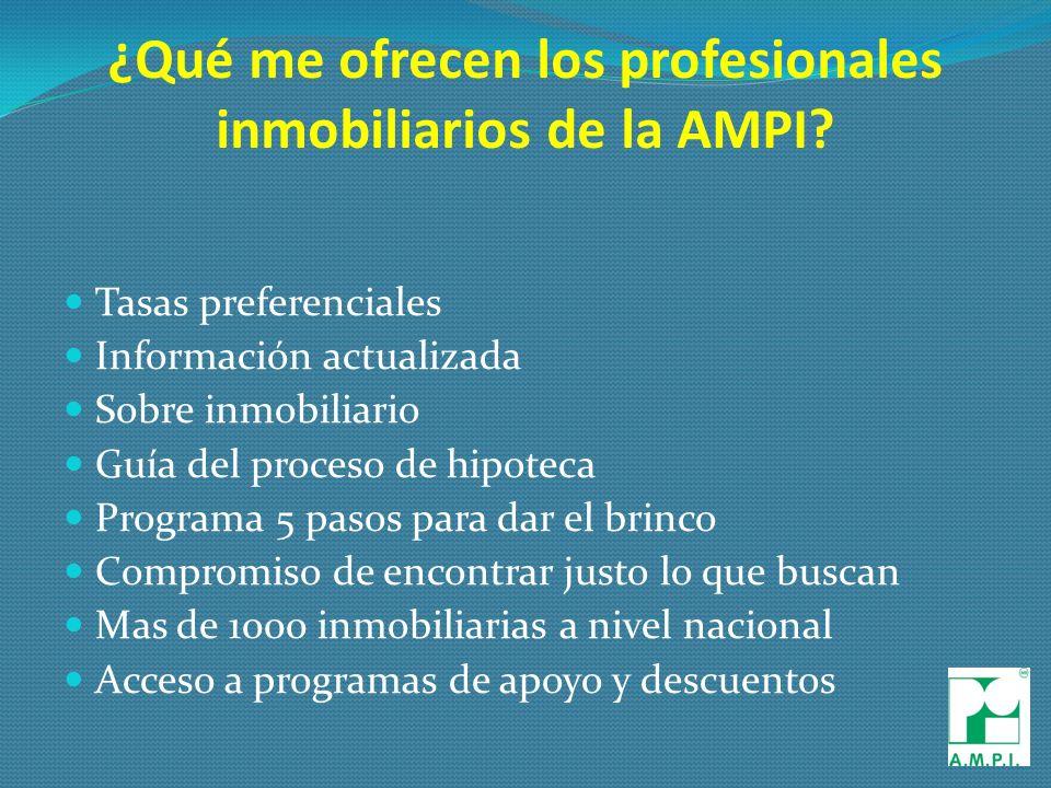 ¿Qué me ofrecen los profesionales inmobiliarios de la AMPI.