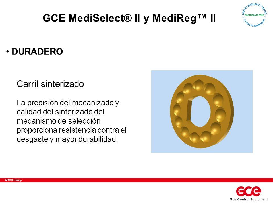 © GCE Group Carril sinterizado La precisión del mecanizado y calidad del sinterizado del mecanismo de selección proporciona resistencia contra el desg