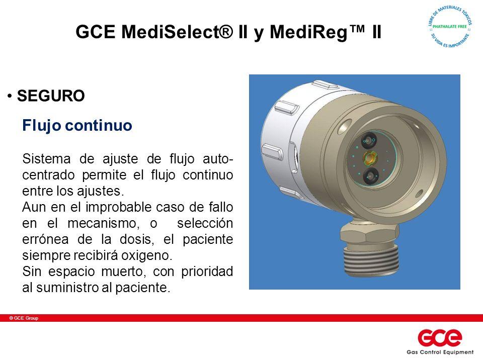 © GCE Group Flujo continuo Sistema de ajuste de flujo auto- centrado permite el flujo continuo entre los ajustes. Aun en el improbable caso de fallo e