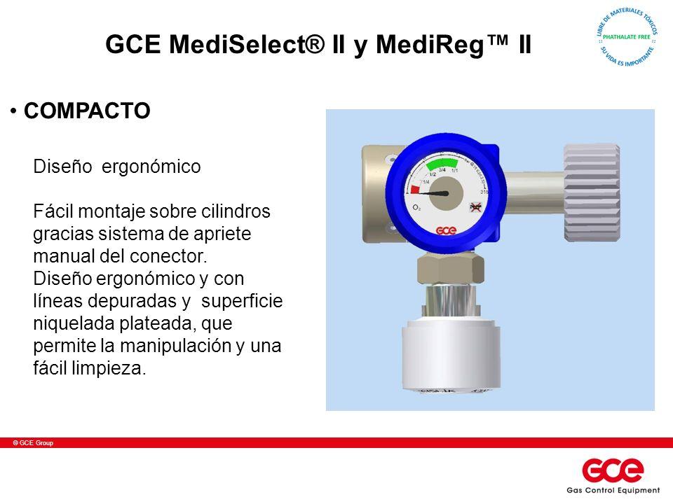 © GCE Group Diseño ergonómico Fácil montaje sobre cilindros gracias sistema de apriete manual del conector. Diseño ergonómico y con líneas depuradas y