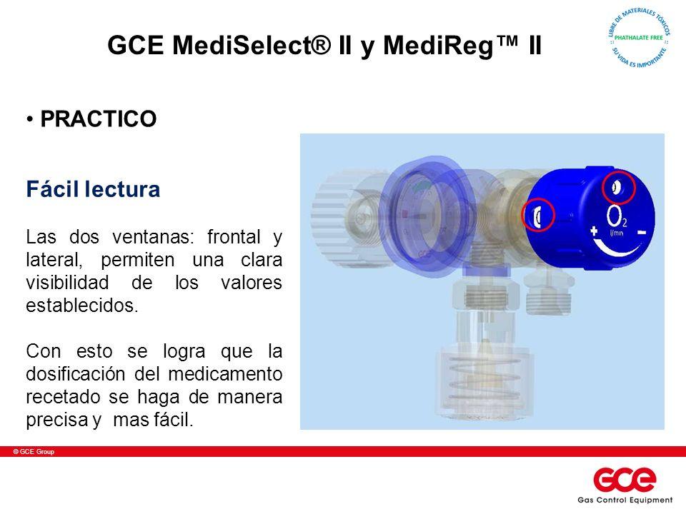 © GCE Group Fácil lectura Las dos ventanas: frontal y lateral, permiten una clara visibilidad de los valores establecidos. Con esto se logra que la do