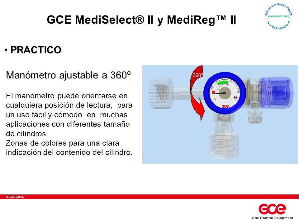 © GCE Group Manómetro ajustable a 360º El manómetro puede orientarse en cualquiera posición de lectura, para un uso fácil y cómodo en muchas aplicacio
