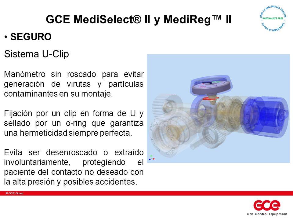 © GCE Group Sistema U-Clip Manómetro sin roscado para evitar generación de virutas y partículas contaminantes en su montaje. Fijación por un clip en f