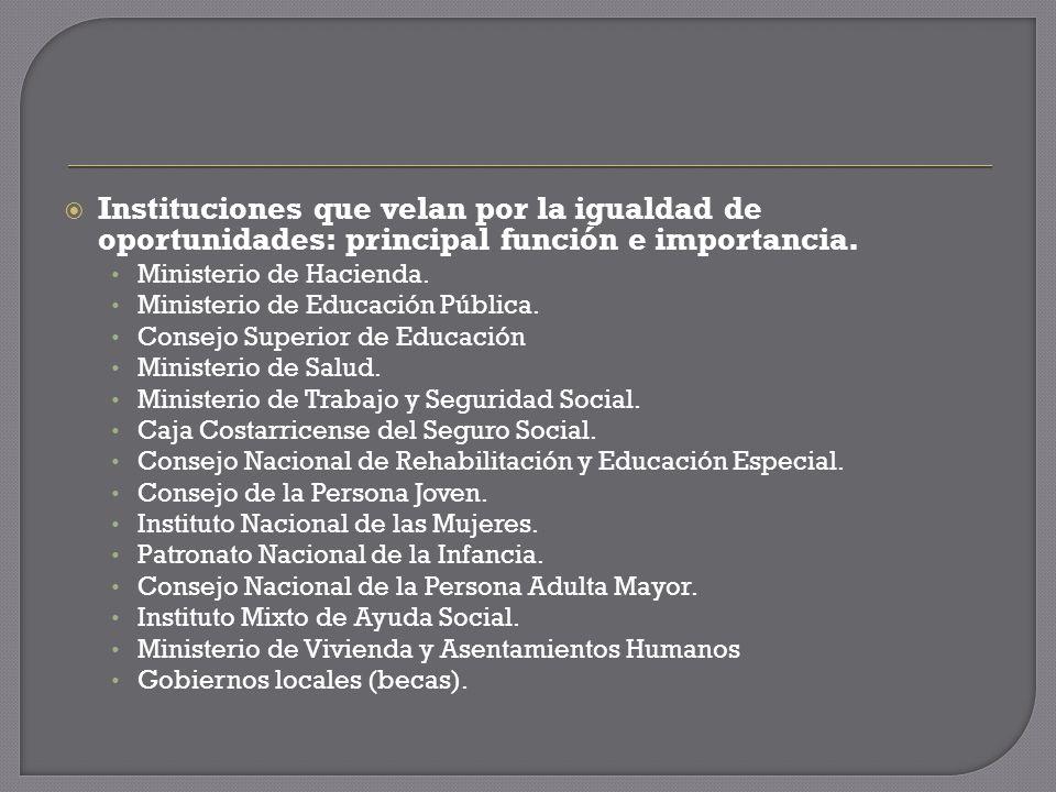 Instituciones que velan por la igualdad de oportunidades: principal función e importancia.