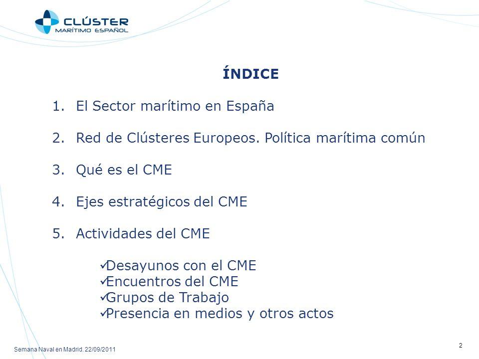 Red de Clústeres Europeos. Política marítima común