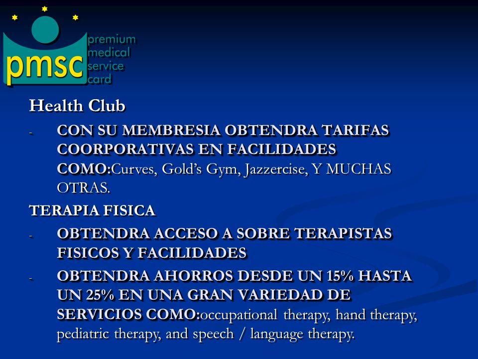 Quiroprácticos - OBTENDRA AHORROS DESDE UN 20% HASTA UN 40% EN SERVICIOS QUIROPRACTICOS. - CON SU MEMBRESIA DE PREMIUM MEDICAL SERVICE CARD USTED PUED