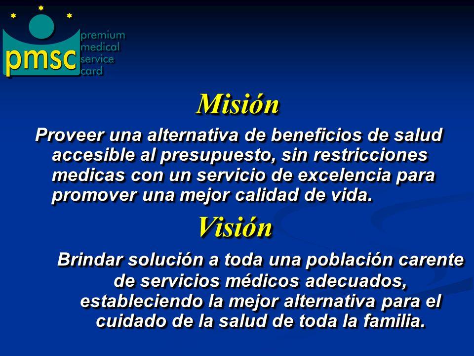 Premium Medical Service Card, es una empresa que a diseñado un programa de beneficios de salud que brinda acceso a tarifas pre- negociadas, a través d