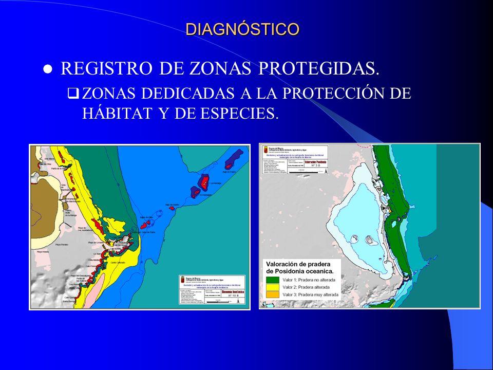 REGISTRO DE ZONAS PROTEGIDAS. ZONAS DEDICADAS A LA PROTECCIÓN DE HÁBITAT Y DE ESPECIES. DIAGNÓSTICO