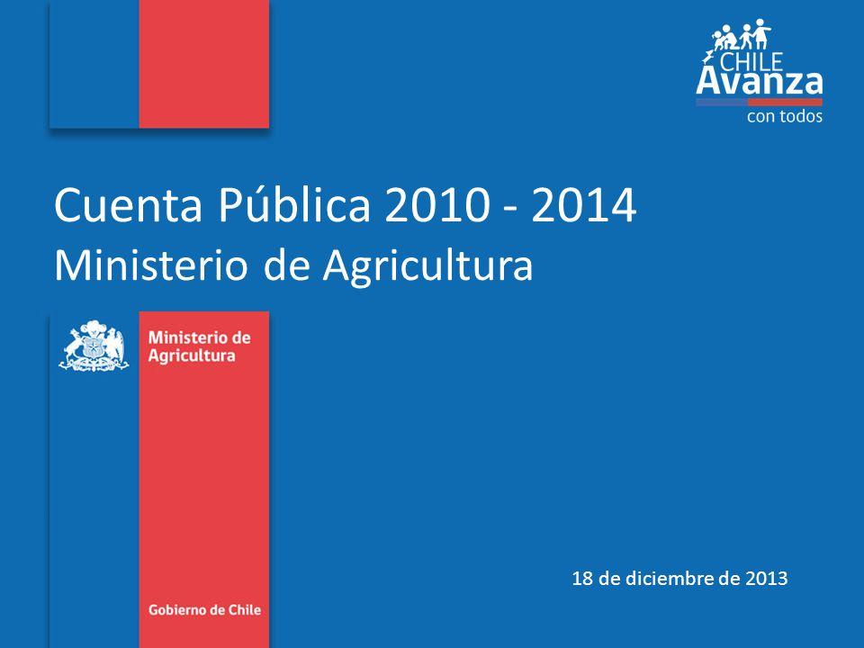 Cuenta Pública 2010 - 2014 Ministerio de Agricultura 18 de diciembre de 2013