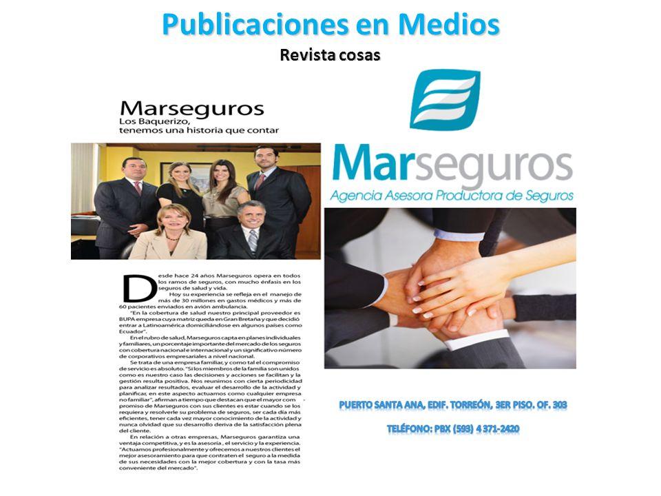 Publicaciones en Medios Revista cosas