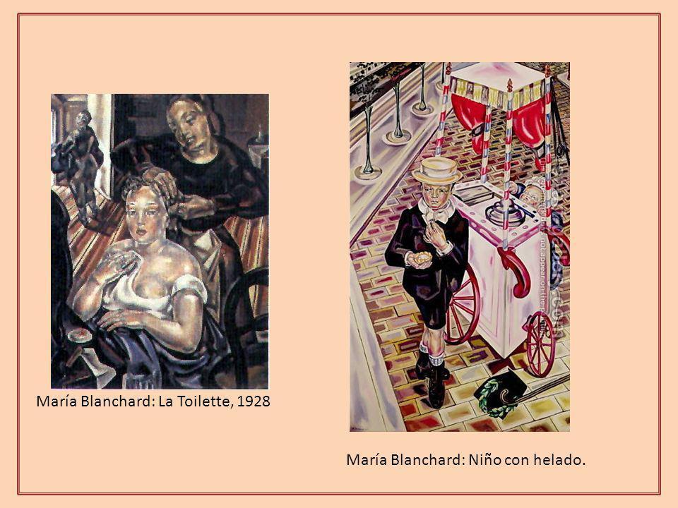 María Blanchard: La Toilette, 1928 María Blanchard: Niño con helado.