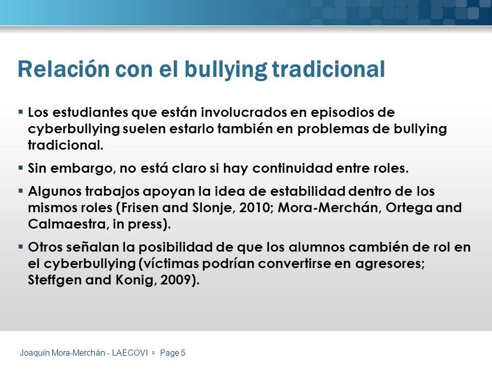 Joaquín Mora-Merchán - LAECOVI Page 6 ¿Qué hace que nos veamos involucrados en este tipo de problemas.