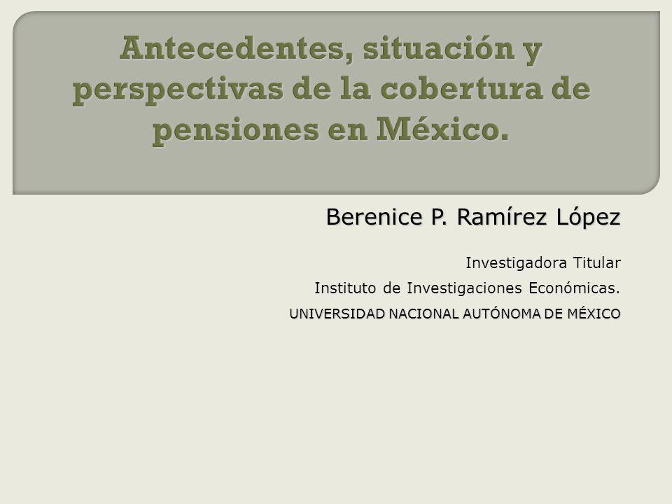 Berenice P. Ramírez López Investigadora Titular Instituto de Investigaciones Económicas. UNIVERSIDAD NACIONAL AUTÓNOMA DE MÉXICO