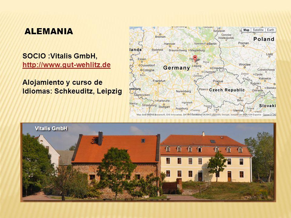 ALEMANIA SOCIO :Vitalis GmbH, http://www.gut-wehlitz.de Alojamiento y curso de Idiomas: Schkeuditz, Leipzig