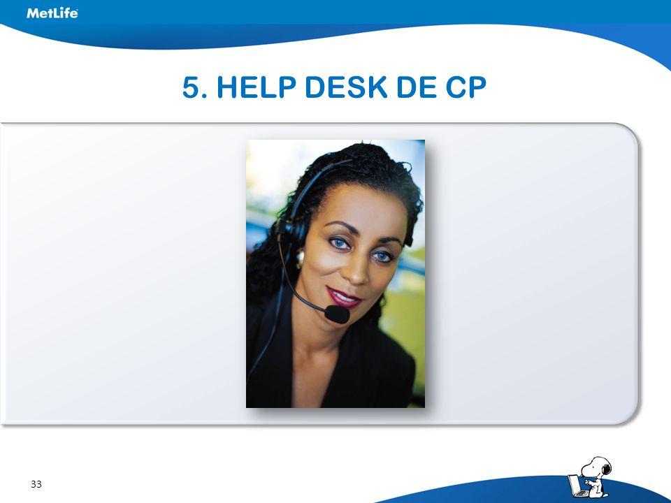 33 5. HELP DESK DE CP