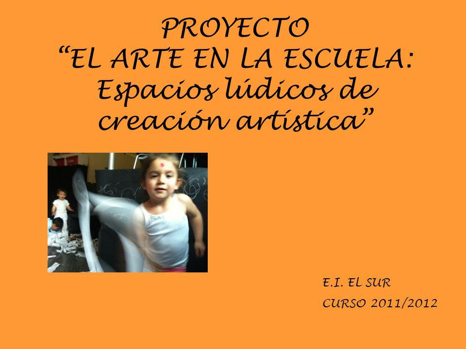PROYECTO EL ARTE EN LA ESCUELA: Espacios lúdicos de creación artística E.I. EL SUR CURSO 2011/2012