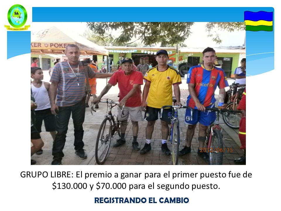 GRUPO LIBRE: El premio a ganar para el primer puesto fue de $130.000 y $70.000 para el segundo puesto.