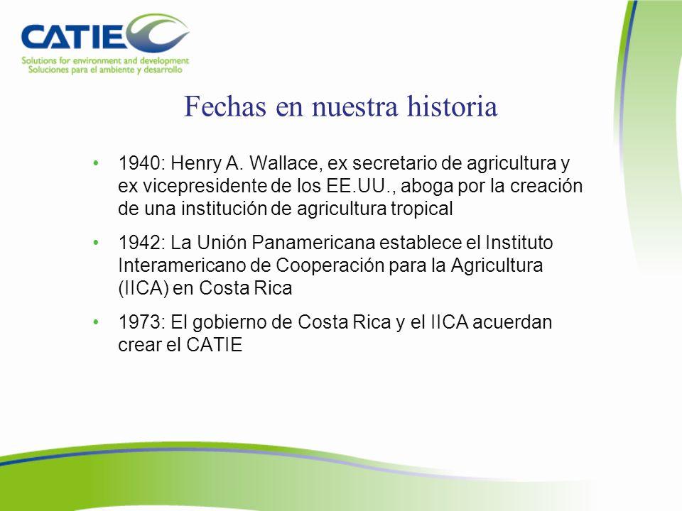 Sede Central del CATIE, Turrialba (lunes a viernes) Personal de oficina: –7:00 a.m.