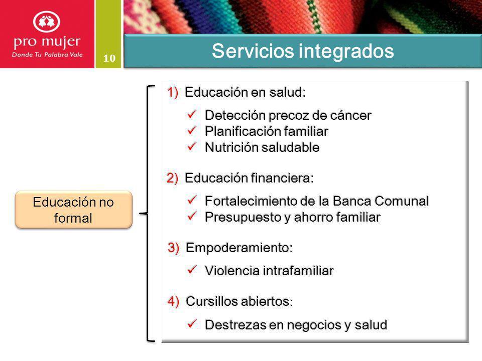 10 Servicios integrados Educación no formal