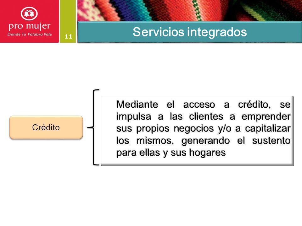 11 Servicios integrados Crédito