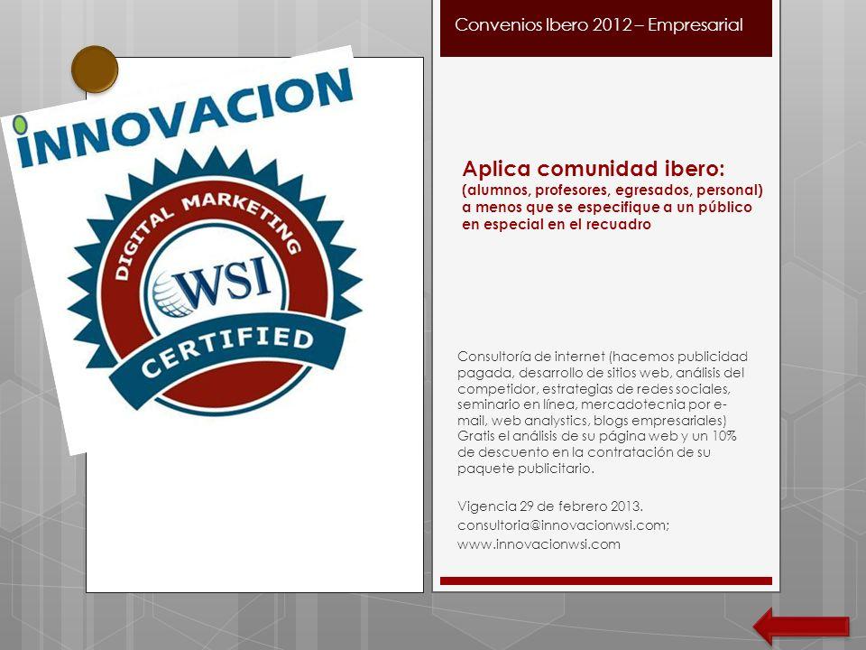 Consultoría de internet (hacemos publicidad pagada, desarrollo de sitios web, análisis del competidor, estrategias de redes sociales, seminario en lín