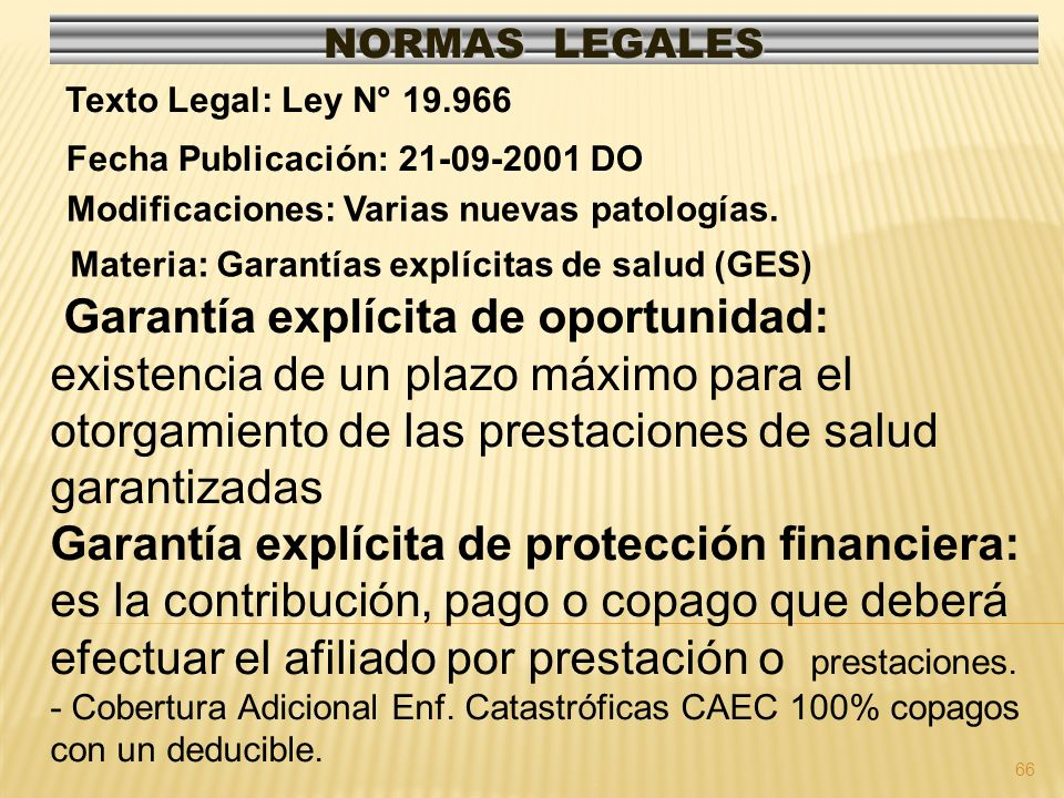 67 NORMAS LEGALES Modificaciones: Fecha Publicación: 08-04-2006 Texto Legal: Res.