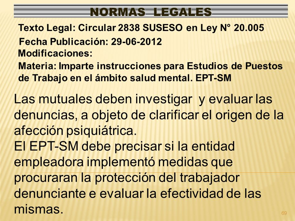 70 NORMAS LEGALES Modificaciones: Mod.CT. In.2, art.