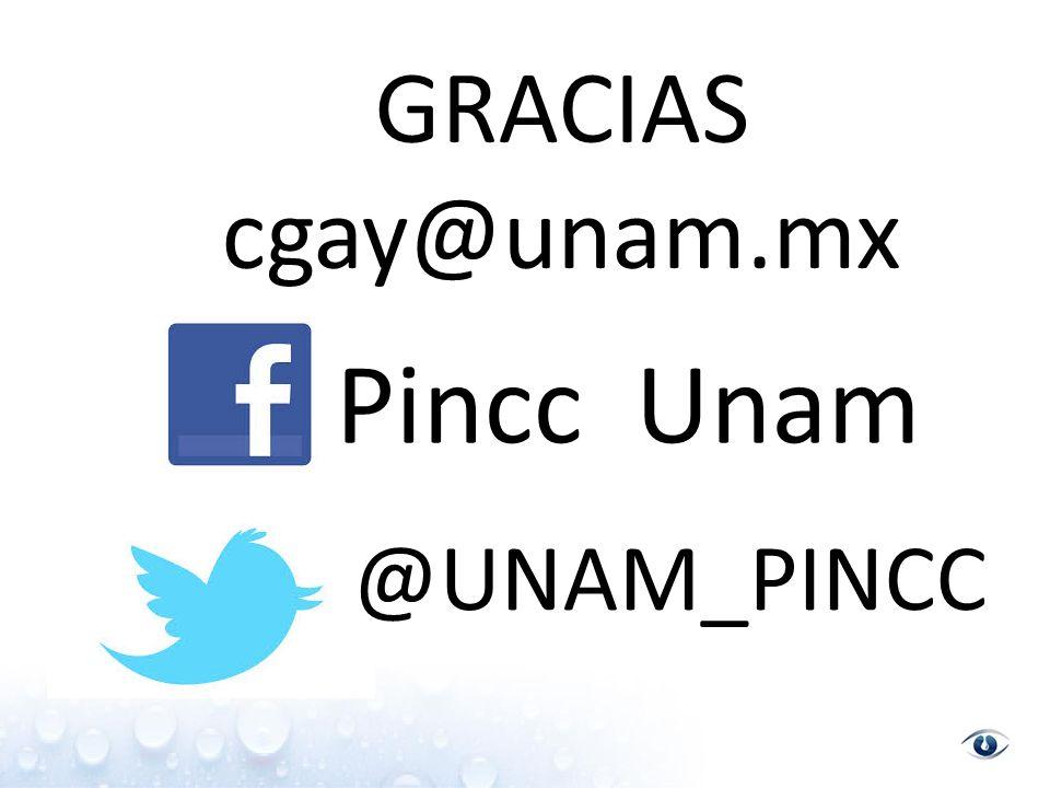 GRACIAS cgay@unam.mx Pincc Unam @UNAM_PINCC