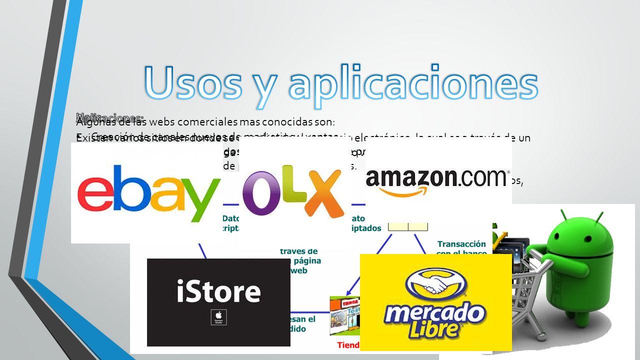Creación de canales nuevos de marketing y ventas. Acceso interactivo a catálogos de productos, listas de precios y folletos publicitarios. Venta direc