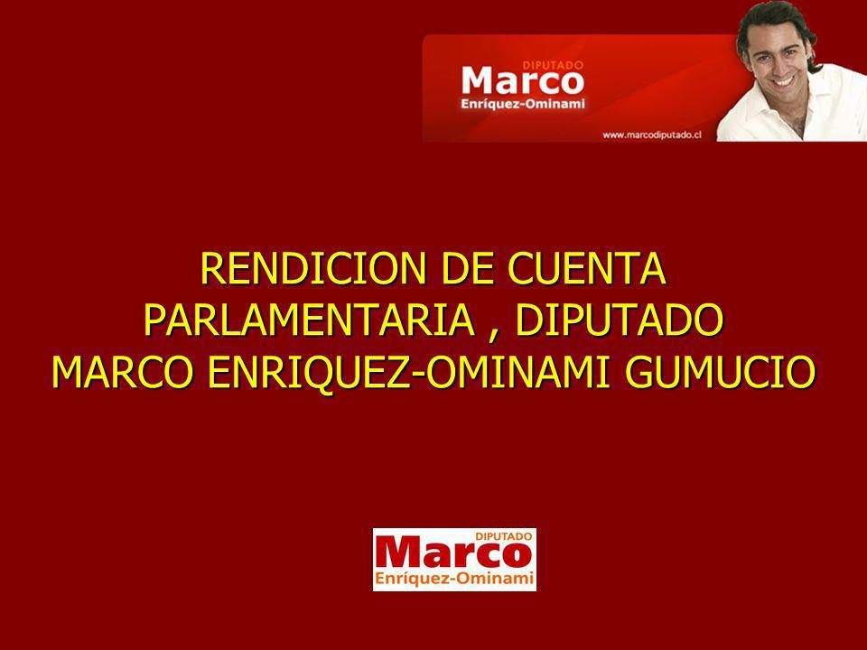 Marco Enríquez-Ominami Gumucio El parlamentario resultó electo con votación histórica el 11 de diciembre de 2005.