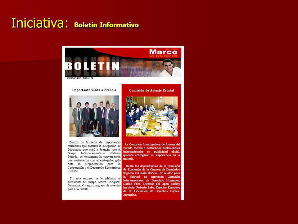Iniciativa: Boletín Informativo