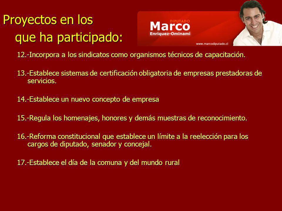 18.-Modifica la ley Orgánica Constitucional de municipalidades.