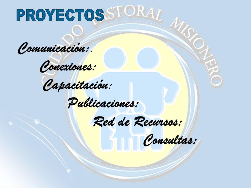 Comunicación:. Conexiones: Capacitación: Publicaciones: Red de Recursos: Consultas:
