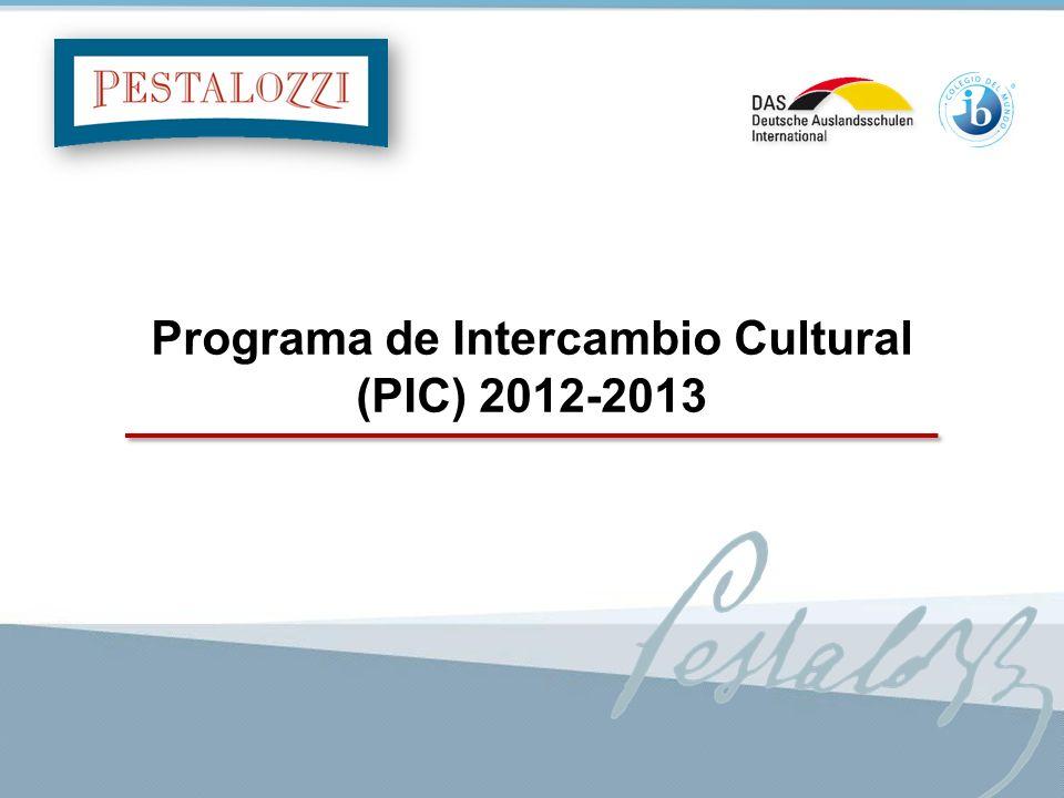 1 Programa de Intercambio Cultural (PIC) 2012-2013