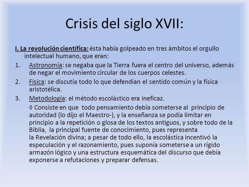 Crisis del siglo XVII: II.