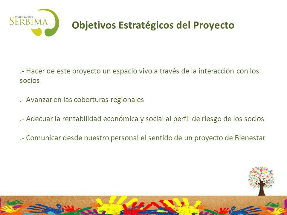 Objetivos Estratégicos del Proyecto.- Hacer de este proyecto un espacio vivo a través de la interacción con los socios.- Avanzar en las coberturas reg