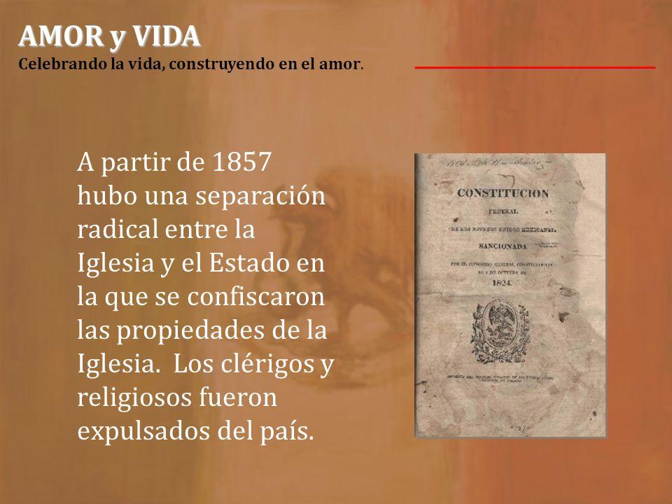 Nuestras Hermanas trajeron la visión del Carisma CCVI a la República Mexicana. El inicio tuvo lugar durante un período de persecución contra la Iglesi