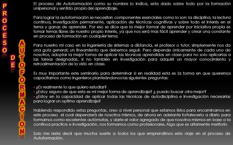 1. CONCEPTO PERSONAL DEL SEMINARIO PERMANENTE DE AUTOFORMACIÓN ( Corto, mediano y lago plazo) (personal y profesional) 2. PROYECTO DE VIDA ( Corto, me