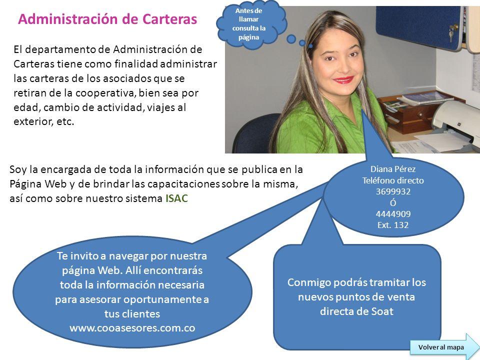 Te invito a navegar por nuestra página Web. Allí encontrarás toda la información necesaria para asesorar oportunamente a tus clientes www.cooasesores.