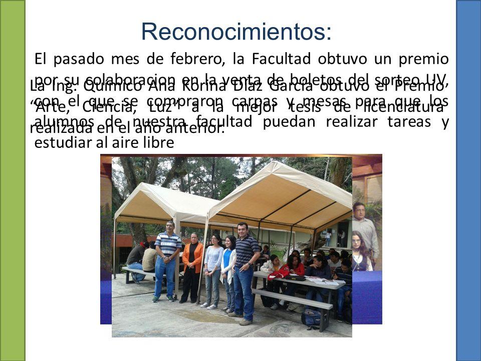 Reconocimientos: La Ing.
