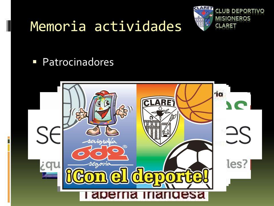 Memoria actividades Patrocinadores
