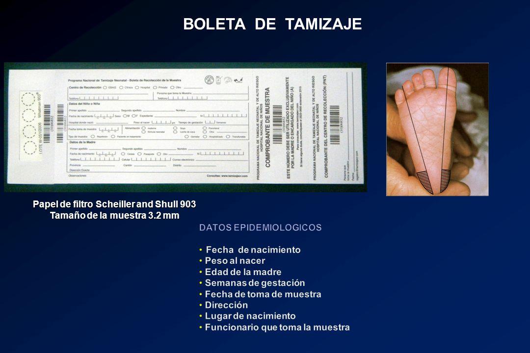 BOLETA DE TAMIZAJE Papel de filtro Scheiller and Shull 903 Tamaño de la muestra 3.2 mm