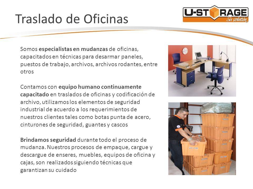 Traslado de Oficinas Somos especialistas en mudanzas de oficinas, capacitados en técnicas para desarmar paneles, puestos de trabajo, archivos, archivo