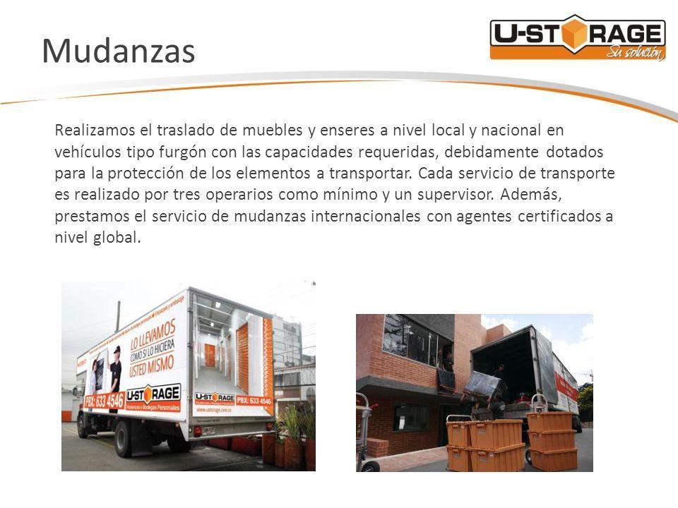 Mudanzas Realizamos el traslado de muebles y enseres a nivel local y nacional en vehículos tipo furgón con las capacidades requeridas, debidamente dot