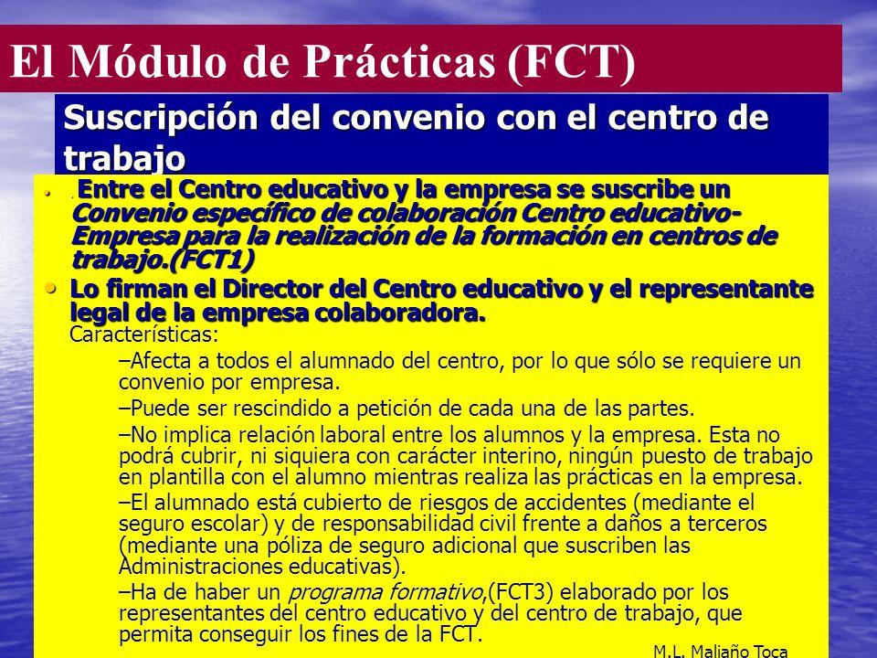 10 Suscripción del convenio con el centro de trabajo.